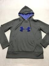 Under Armour S Small Blue Gray Big Logo Storm Hoodie Sweatshirt Womens C... - $22.99