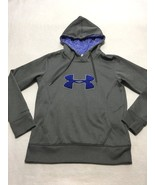 Under Armour S Small Blue Gray Big Logo Storm Hoodie Sweatshirt Womens C... - $22.99