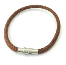 Brighton Coachella Brown Leather Bracelet, Size M, New - $28.49