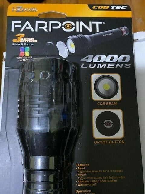 FARPOINT I-ZOOM LED 400 Lumens TACTICAL Flashlight (Water Resistant) .Brand New