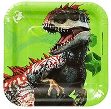 Jurassic World Dessert Plates 8 Per Package Birthday Party Supplies Amscan - $3.75