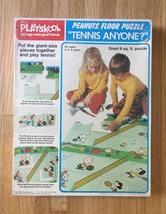 """Vintage 1973 Playskool Peanuts Floor Puzzle """"Tennis Anyone?"""""""