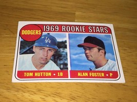 1969 Topps Dodgers rookie Stars 266 Tom Hutton / Alan Foster - $2.99