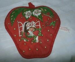 "Vintage American Greetings Strawberry Shortcake Potholder 8"" 1980 - $8.90"