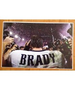 Tom Brady Jersey Patriots LII Battle Field Paparazzi  Frameable Poster 1... - $15.83