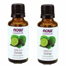 2 X NOW FOODS 100% PURE LIME ESSENTIAL OIL 1 OZ, FRESH, MADE IN USA - $26.86