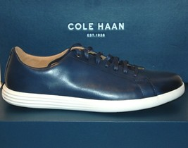 Cole Haan Men's Navy White Lining Leather Lace Fashion Sneakers Sz 12 - $108.89
