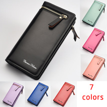 Women Long Bifold Leather Zipper Wallet Case Clutch with Card Holder Coin pocket - $17.99