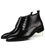 Handmade Black/Brown Fashion Pointed Toe, Business Oxfords Genuine Leath... - $159.99+