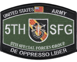 "4.5"" Army 5TH Special Forces Group Mos Oppresso Liber Embroidered Patch - $16.24"