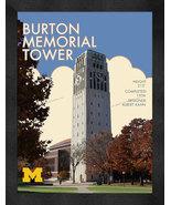 "Michigan Wolverines ""Burton Memorial Tower"" 13 x 16 Art Deco Framed Print  - $39.95"