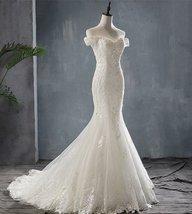 Sexy Mermaid Wedding Dress Lace with Sweep Train - $269.99