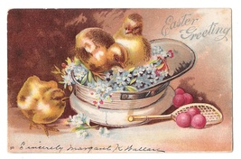 Cedarlane PA Doane Cancel 3/3 DPO on 1907 Unsigned Clapsaddle Easter PPC  - $9.95