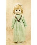 Regional Ethnic Folk Bisque Porcelain Doll Blond Braided Hair Braids Blu... - $29.68
