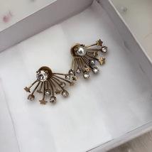 SALE* NEW AUTH Christian Dior 2019 CD DIORAINBOW CRYSTAL LOGO STAR Earrings image 8