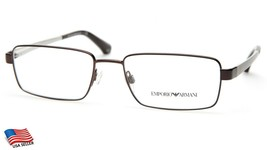 New Emporio Armani Ea 1015 3053 Brown Eyeglasses Frame 53-17-140 B32mm - $74.24