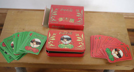 Pair Vintage Coca-Cola Old Fashioned COKE Woman Playing Cards w/ Tin Cas... - $11.99