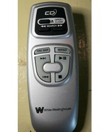 White Westinghouse CD Player Remote Control Only Battery Operated - $16.83