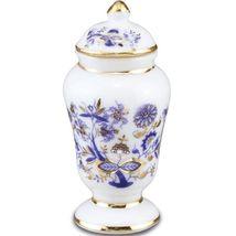 Dollhouse Blue Onion Large Vase w Lid 1.483/5 Reutter Miniature  - $12.17