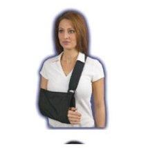 Med Spec Shoulder Immobilizer with soft padded shoulder strap, Black, Medium - $21.99