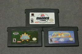 Nintendo Game Boy Advance: 3 Games - Super Hornet + Madden 2005 + Texas ... - $10.00