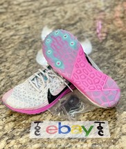 NIKE Zoom Rival XC 2019 Women's Size 6.5 Track Shoes Grey Pink Spikes AJ... - $48.39