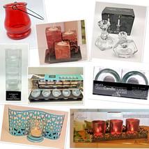 Candle Holders Tea Light Pillar Votive Taper Glass Metal Wood Ceramic - $6.92+