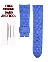 Compatible Invicta S1 Rally 5661 26mm Blue Genuine Leather Watch Strap I... - $34.64