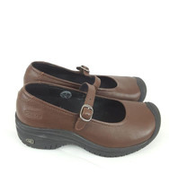 Keen Cush Mary Jane Wedge Shoes brown leather non-slip womens size 5.5 - $23.35