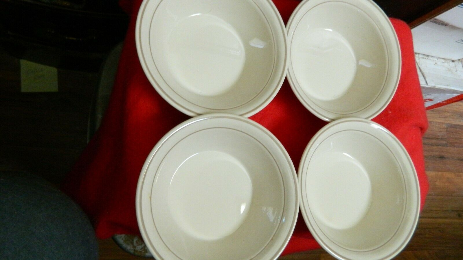 Primary image for CORELLE CORNERSTONE CHINA BLOSSOM 18 OUNCE CEREAL / SOUP BOWLS x 4 FREE USA SHIP