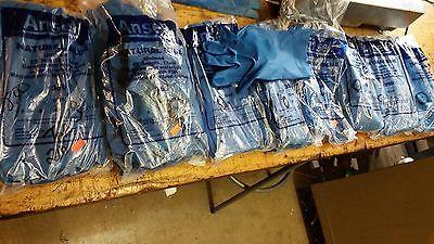 "8 dozen ANSELL 356 latex rubber gloves 17 mil 12"" blue size 10,8,7"