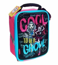 MONSTER HIGH DRACULAURA & FRANKIE STEIN PVC & Lead-Free Insulated Lunch ... - $7.92