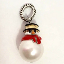 Brighton Frosty Snowman Charm J96332 Silver Finish, New - $18.04