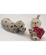 Sandicast Enesco Dalmatian Sleeping Dog Figurine Set of 2 Vintage 1990s - $11.88