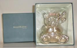 Reed & Barton Baby Girl silver-plated Bear Bank pinwheel shower gift boxed  - $47.77