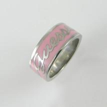 Guess anello fascia donna in acciaio con logo e smalto rosa 14 _ Guess l... - €37,39 EUR