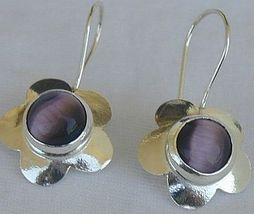 Purple flowers earrings - $20.00
