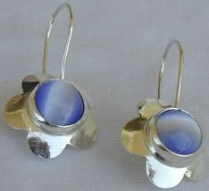 Light blue flowers earrings - $20.00