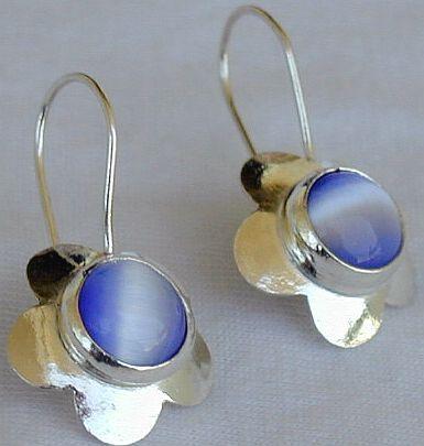Light blue flowers earrings