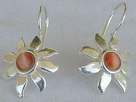 Mini brownish sun earrings - $17.00