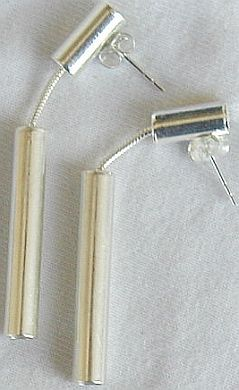 Halulim dangling silver earrings