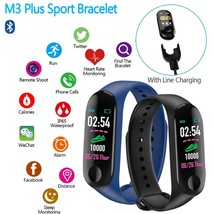 Waterproof M3 Plus Wrist Band Smart Watch Heart Rate/Blood Pressure Monitor - $7.99