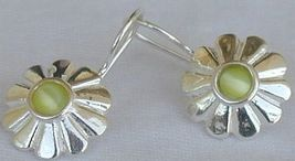 Mini green peridot sun earrings - $20.00