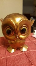 Vintage Owl Figurine MOST probably Signed Anthony Pottery USA - $7.99