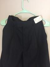 NWT Perry Ellis Stamford Charcoal Black Pinstripe Slacks Pants  UNHEMMED... - $24.66