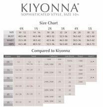 Kiyonna Übergröße Kleid Größe 1X Schwarz Lila Spitze Abendkleid Astoria image 3