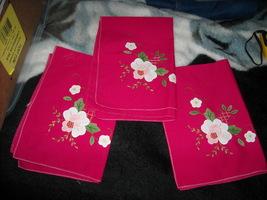 Fancy Pink  Cloth Floral Dinner Napkins  - $10.00
