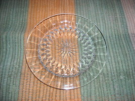 Signed Glass Plate/Dish -Depression Era - $10.00