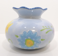 Hallmark Kimberly Hodges Floral Yellow Blue Green Vase - $29.99
