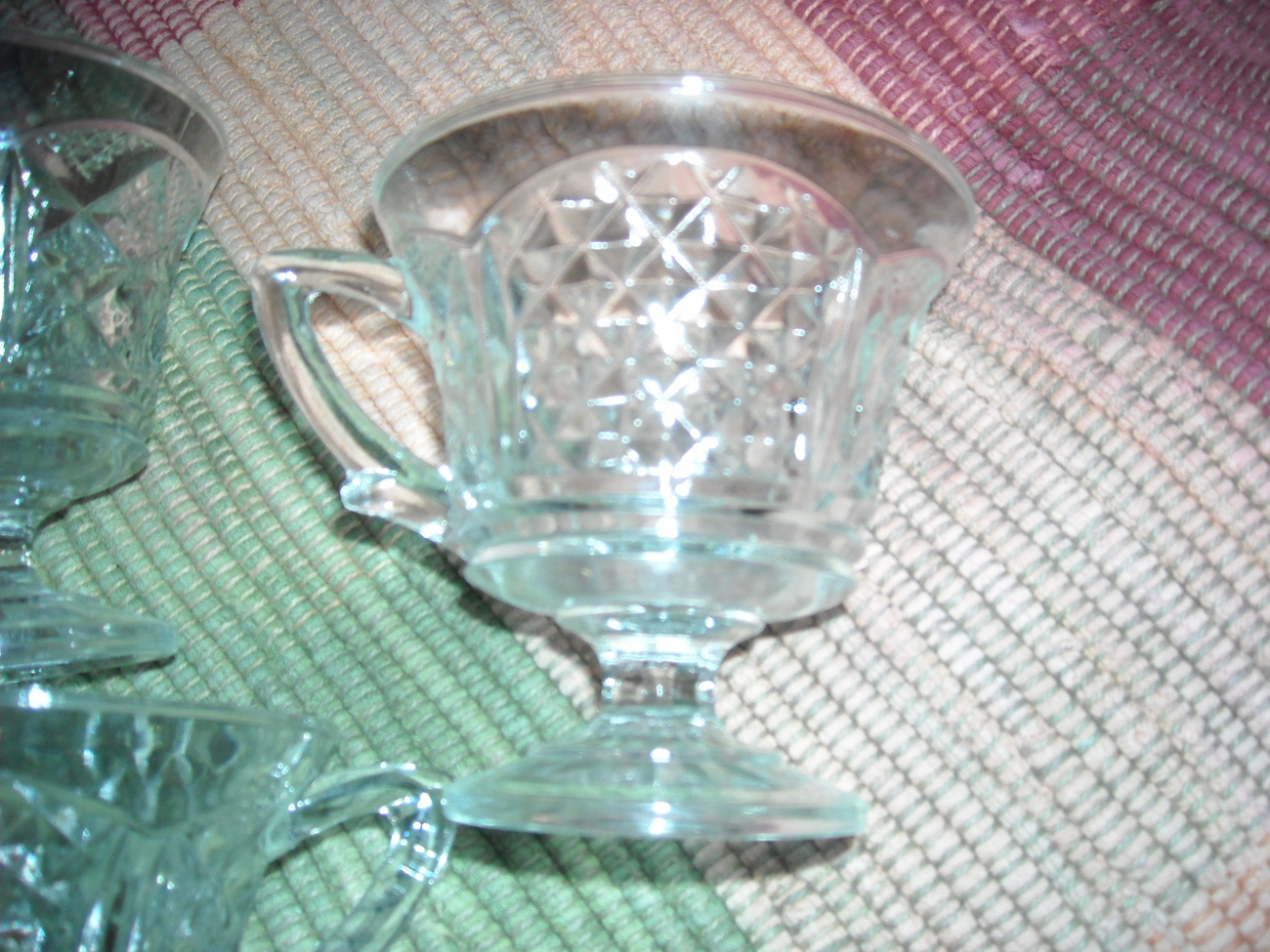 Depression Glass Coffee/Punch Bowl Cups